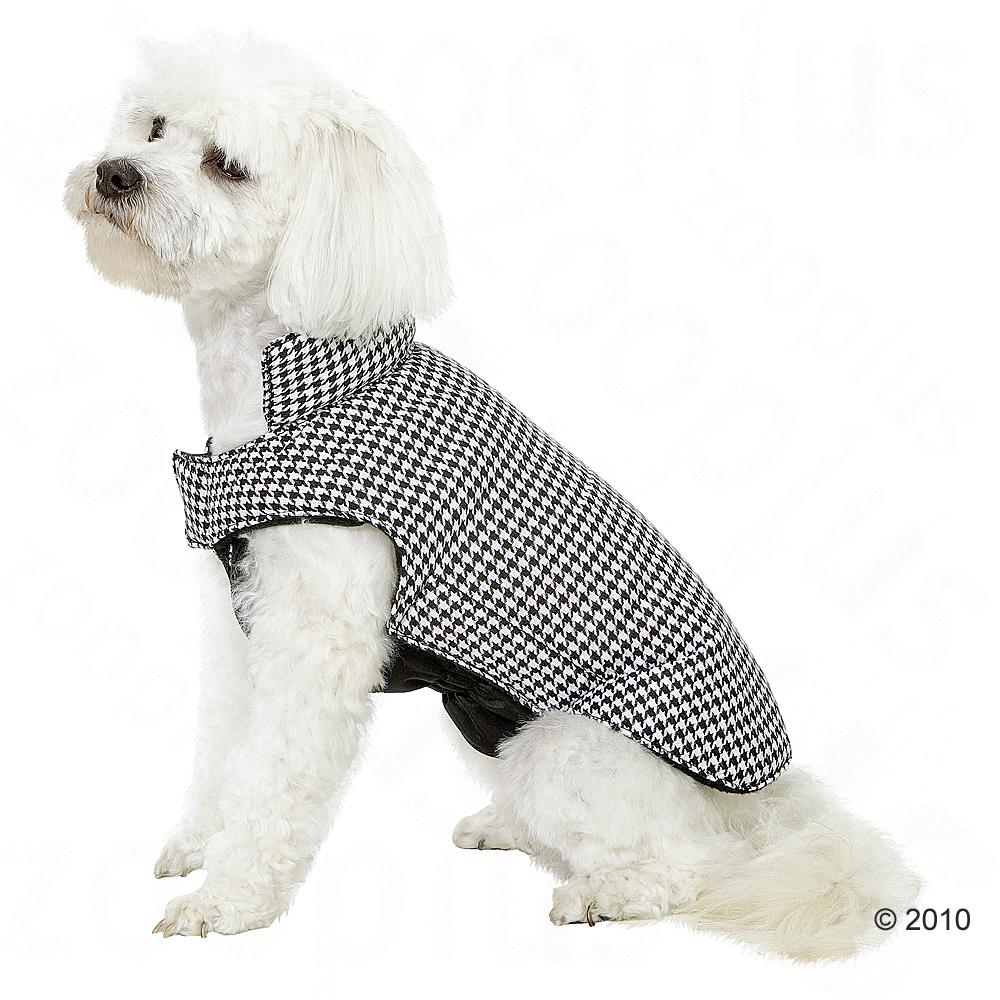 Chubasquero para perros Pepita - - Negro-blanco, 40 cm