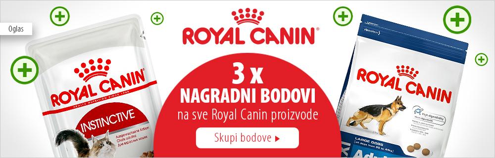 3x nagradni bodovi na Royal Canin