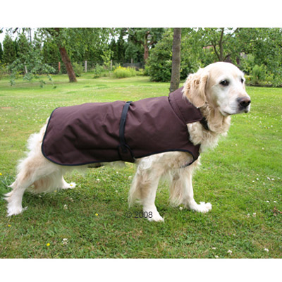 Chubasquero para perros Authentic Brown - - Talla 70: longitud dorsal 70 cm